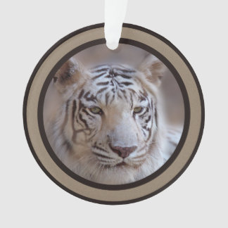 White Indian Bengal Tiger Ornament