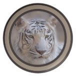 White Indian Bengal Tiger Party Plate