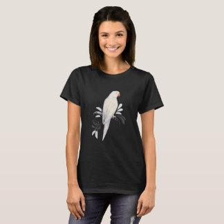 White Indian Ringneck Parrot T-Shirt