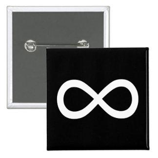 White Infinity Symbol Pinback Button