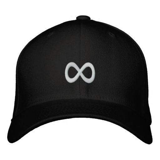 White Infinity Symbol Embroidered Baseball Hat  0699f7daf72