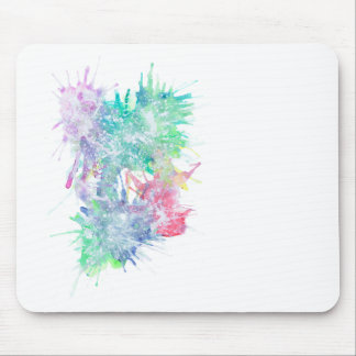 White Ink Mouse Pad