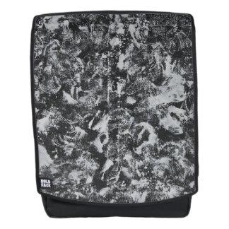 White Ink on Black Background #1 Backpack