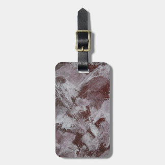 White Ink on Red Background Luggage Tag