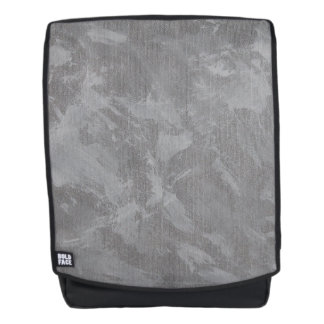 White Ink on Silver Background Backpack