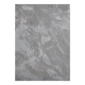 White Ink on Silver Background Card