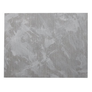 White Ink on Silver Background Notepad
