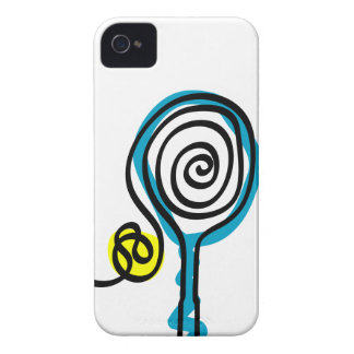 White iPhone case cover with tennis design