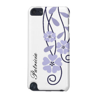 White iPod Touch 4g Case::Lavender Flowers iPod Touch (5th Generation) Cover