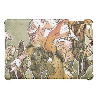 White Iris Floral iPad Case