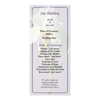 White Iris in Sunshine Wedding Program