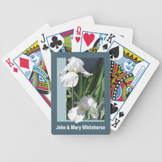 White Iris Personalized Playing Cards