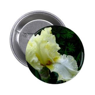 White Iris Pinback Button