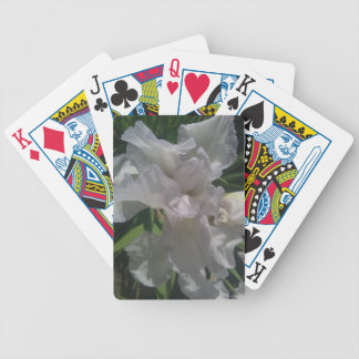 White Iris Playing Cards