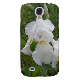 White Iris Samsung Galaxy S4 Cases