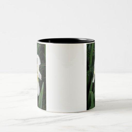 White Iris Two-Tone Coffee Mug