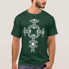 White Irish Celtic Cross St. Patricks Day Shirt