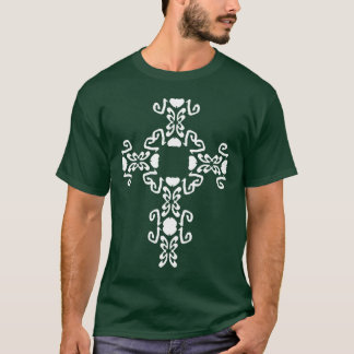 White Irish Celtic Cross St. Patricks Day Shirt