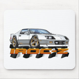 White IROC Z Mouse Pad