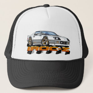 White IROC Z Trucker Hat
