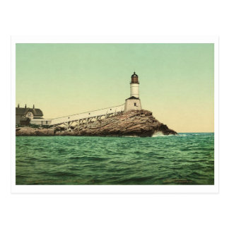 White Island Light, Isles of Shoals, NH Vintage Postcard