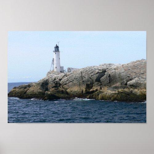 White Island Lighthouse Poster zazzle_print