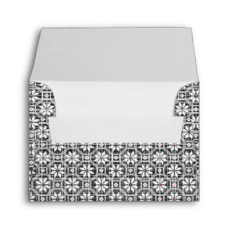 White isolated lace on CUSTOMIZE black background Envelope
