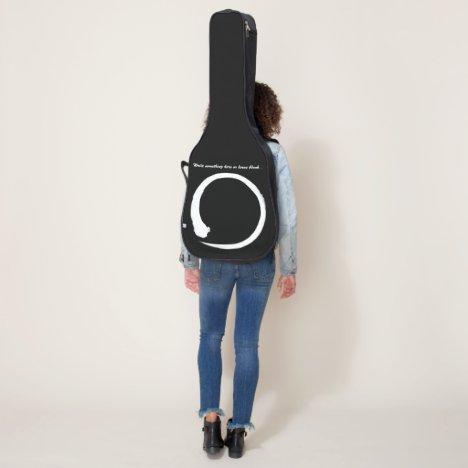 White Japanese zen circle or enso circle Guitar Case