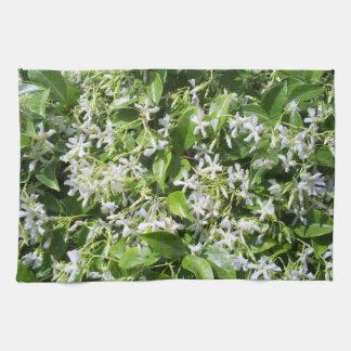 White Jasmine Flowers Kitchen Towels