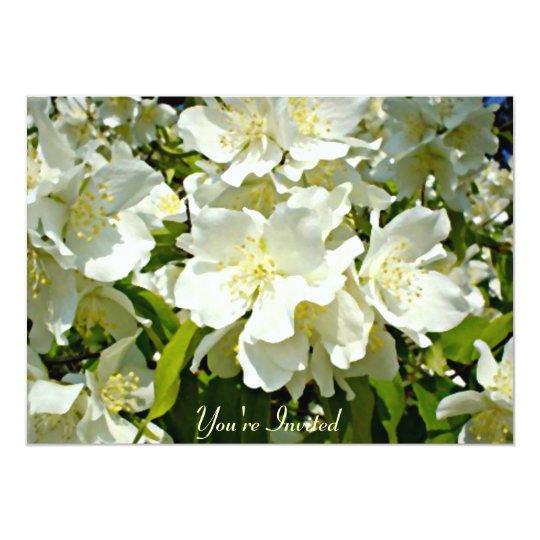 White Jasmine Garden Party Invitation