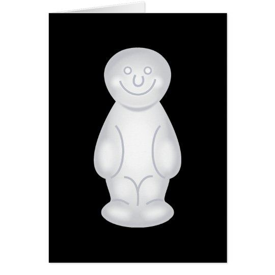 White Jelly Baby Card