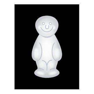 White Jelly Baby Postcards