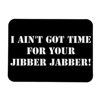 White Jibber Jabber Rectangular Photo Magnet