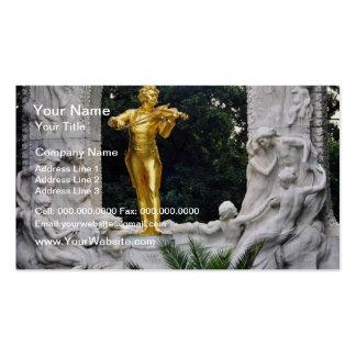 White Johann Strauss Monument Vienna Austria flo Business Cards