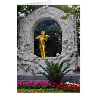 White Johann Strauss Monument, Vienna, Austria flo Greeting Card