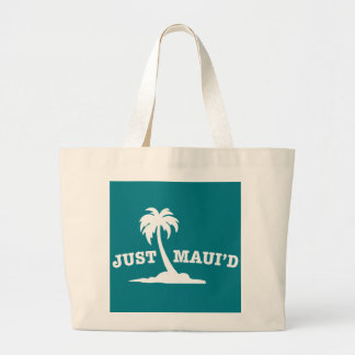White Just Mauid Large Tote Bag