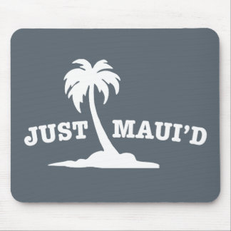 White Just Mauid Mouse Pad
