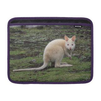 White Kangaroo MacBook Air Sleeve