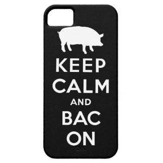 White keep calm and bacon iPhone SE/5/5s case
