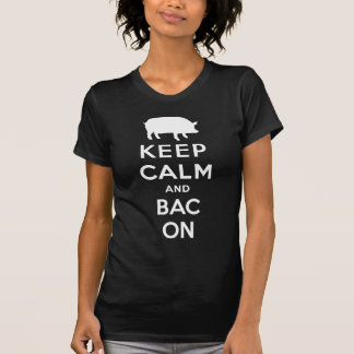 White keep calm and bacon T-Shirt