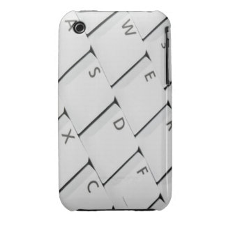 White Keyboard Buttons iPhone 3 Cover