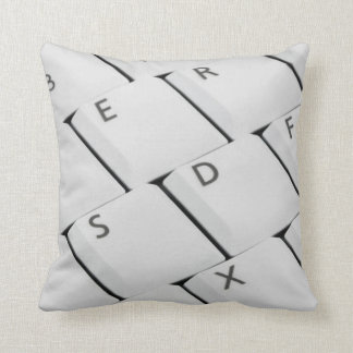 White Keyboard Buttons Throw Pillow
