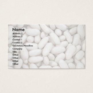 White kidney beans business card