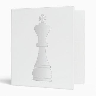 White king chess piece 3 ring binder