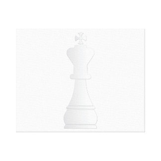 White king chess piece canvas print