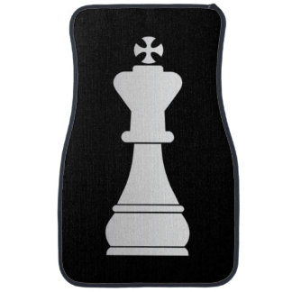 White king chess piece car mat
