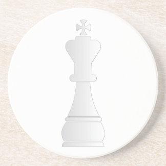 White king chess piece coaster
