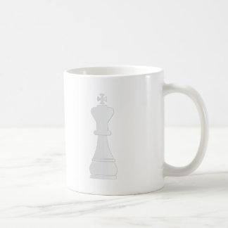 White king chess piece coffee mug