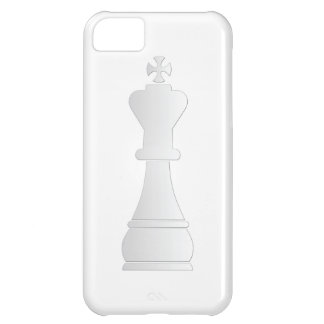 White king chess piece cover for iPhone 5C