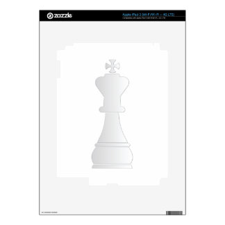 White king chess piece decal for iPad 3